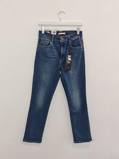 Jeans LEVIS HIGH RISE STRAIGHT Bleu denim