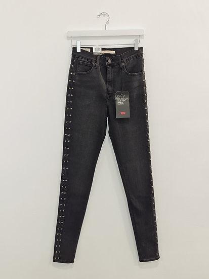 Jeans LEVIS MILE HIGH SUPER SKINNY Gris foncé
