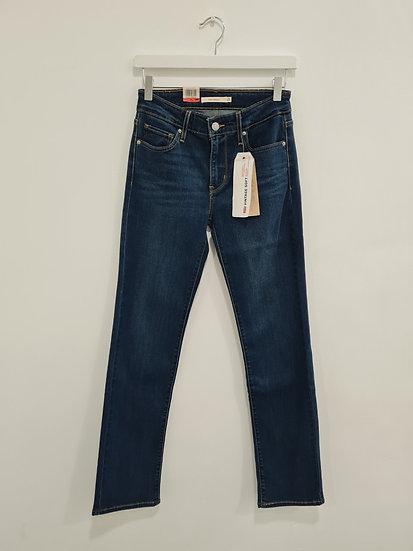 Jeans LEVIS 714 STRAIGHT BLEU FONCE