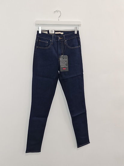 Jeans LEVIS 721 HIGH RISE SKINNY Bleu foncé stretch