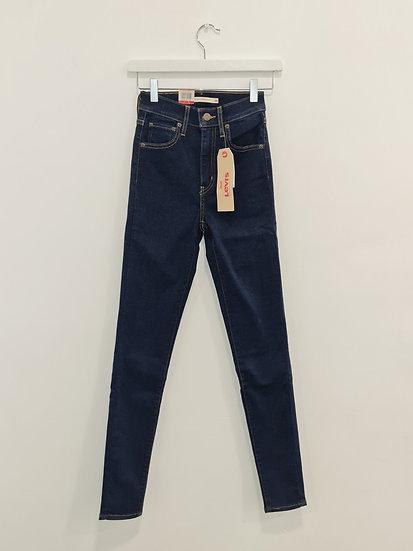 Jeans LEVIS MILE HIGH SUPER SKINNY Bleu foncé stretch
