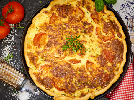 Zucchini-Zwiebel-Quiche