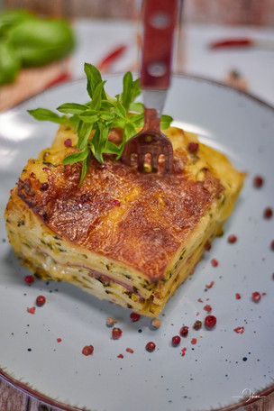 Zucchini-Schinken-Lasagne...