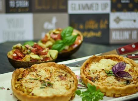 Tartelettes mit Lauch und Gorgonzola