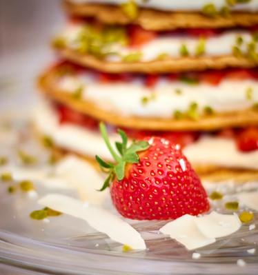 Erdbeer-Pfannkuchen-Torte