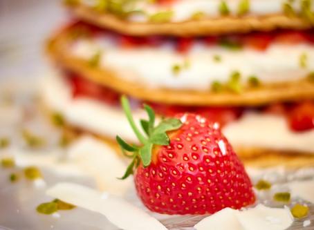 Erdbeer Pfannkuchen Torte