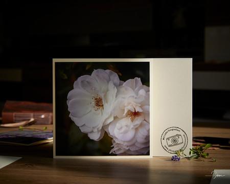 """Grußkarte """"2 Rosen"""""""