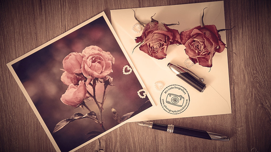 Fotografie Grusskarten made with love