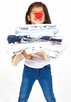 Clothing donations for school recycling fundraiser