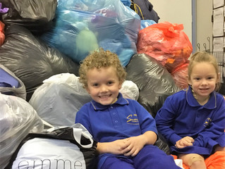 Somerville Primary School Supersizes Closet Cleanout Fundraising Collection