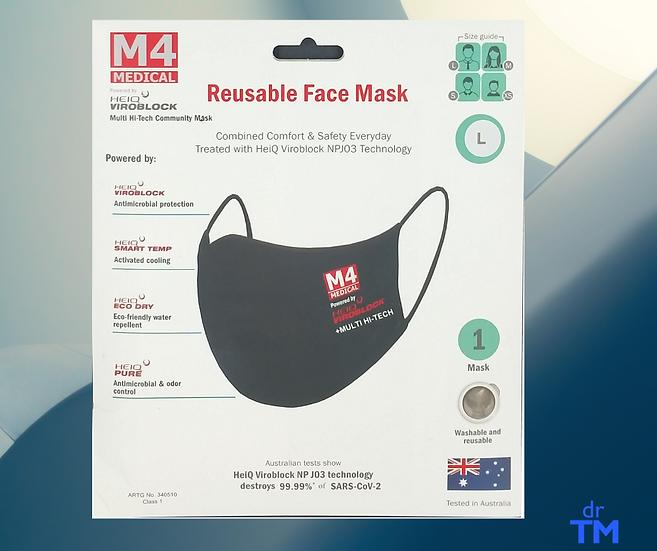 Face Mask Reusable VIROBLOCK Technology