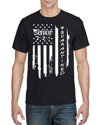 Senior Quarantine American Flag Tee Shirt