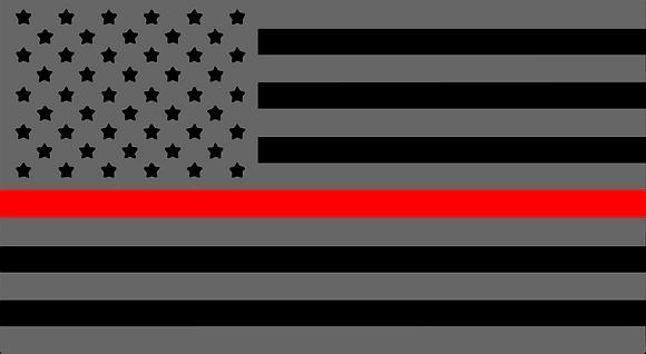 Firefighter American Flag License Plate