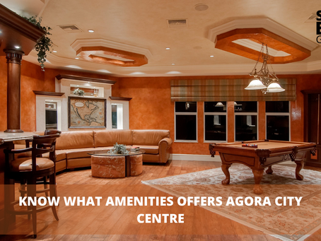 Know What Amenities Offers Agora City Centre