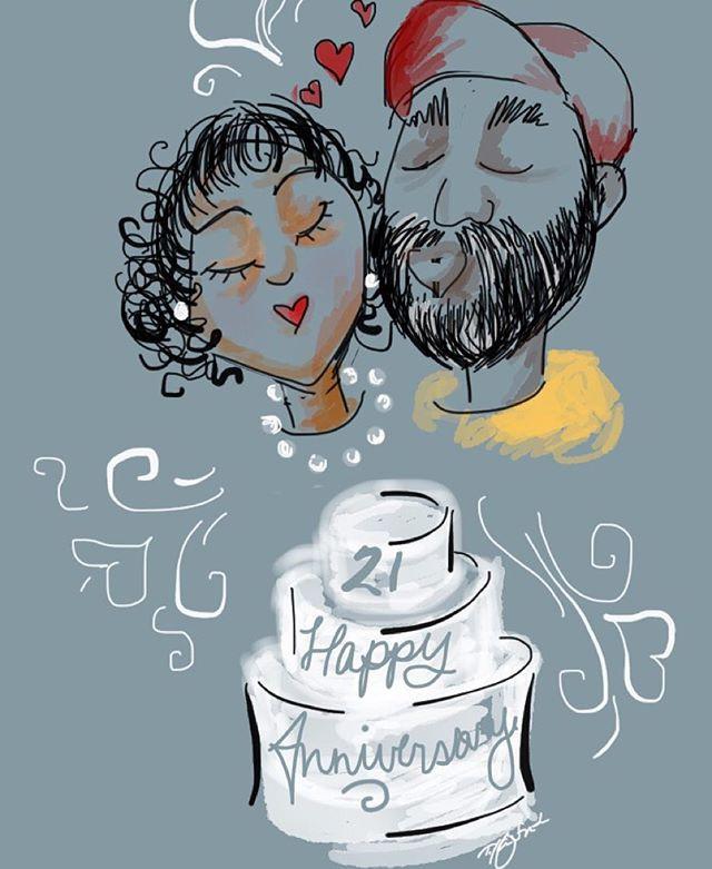 Happy 21 Wedding Anniversary to my Ma &