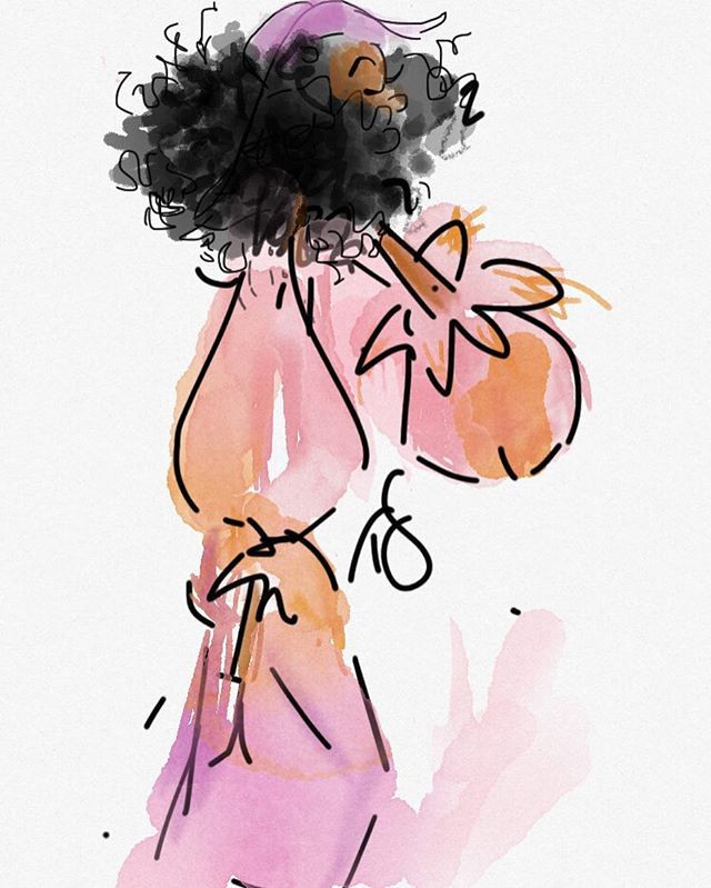 Day 4 a little fashion doodle #100dayspr