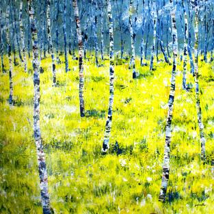 """The Wood"", Acrylic on Board, 900 x 900 mm"