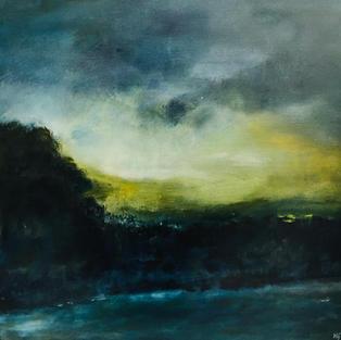 """Evening Light"" Acrylic on canvas, 600 x 600 mm"