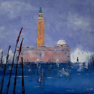 """""""San Giorgio Venice"""", Acrylic on Canvas, 500 x 500 mm"""