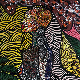 """Wild Soul "", Acrylics on canvas, 510 x 610 mm"