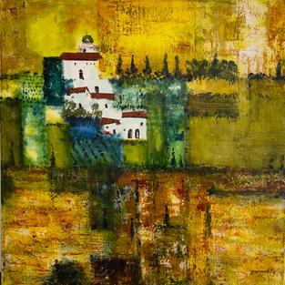"""Tuscany"",  Acrylic on Canvas,  600 x 600 mm"