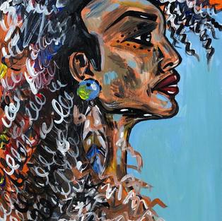 """Indi "", Acrylics on canvas, 350 x 450 mm"