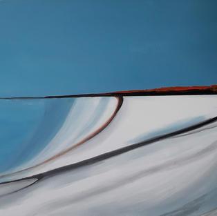 """Splash of orange"", Acrylic, 600 x 450 mm"