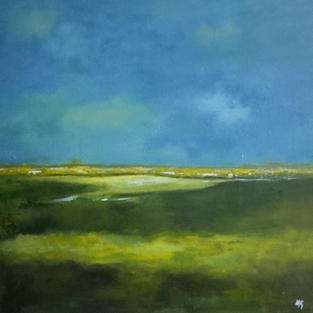 """Summer Fields""  Acrylic on Canvas, 600 x 600 mm"