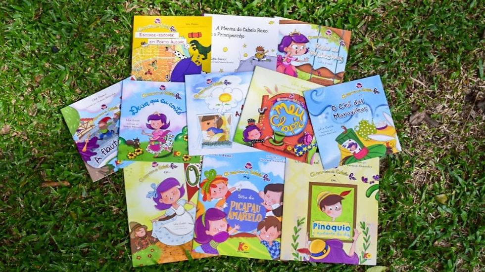 """Coleção """"Menina do Cabelo Roxo"""" - 11 Livros -  indicado para 4 - 8 anos"""