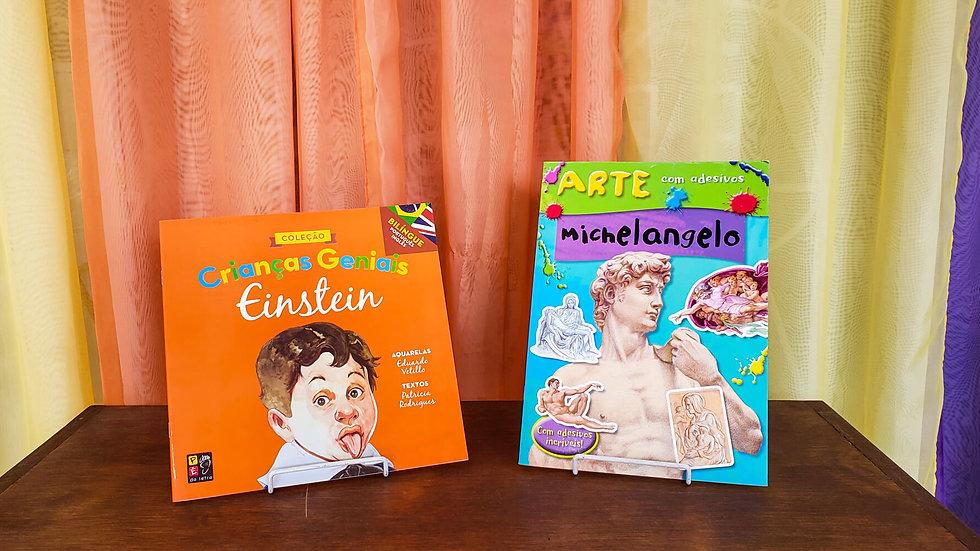 Kit Crianças Geniais e Arte com Adesivos (2 Livros)