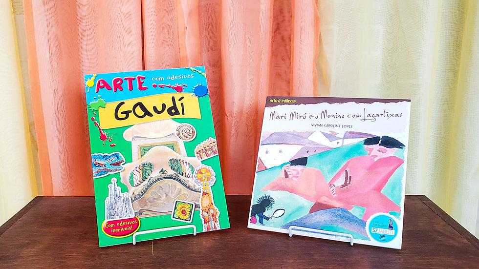 Kit Arte com Adesivos e Mari Miró (2 Livros)