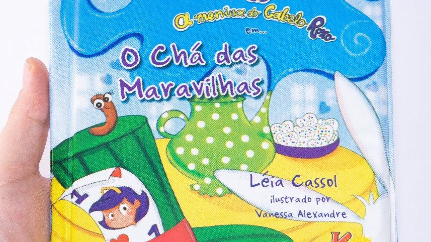 A Menina do Cabelo Roxo em : O Chá das Maravilhas - Livro de Banho