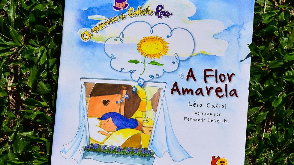 A Menina do Cabelo Roxo e a Flor Amarela