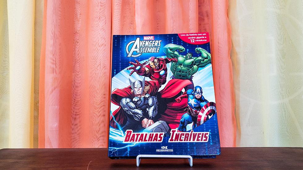"""Livro com Miniaturas """"Avengers - Batalhas Incríveis"""""""