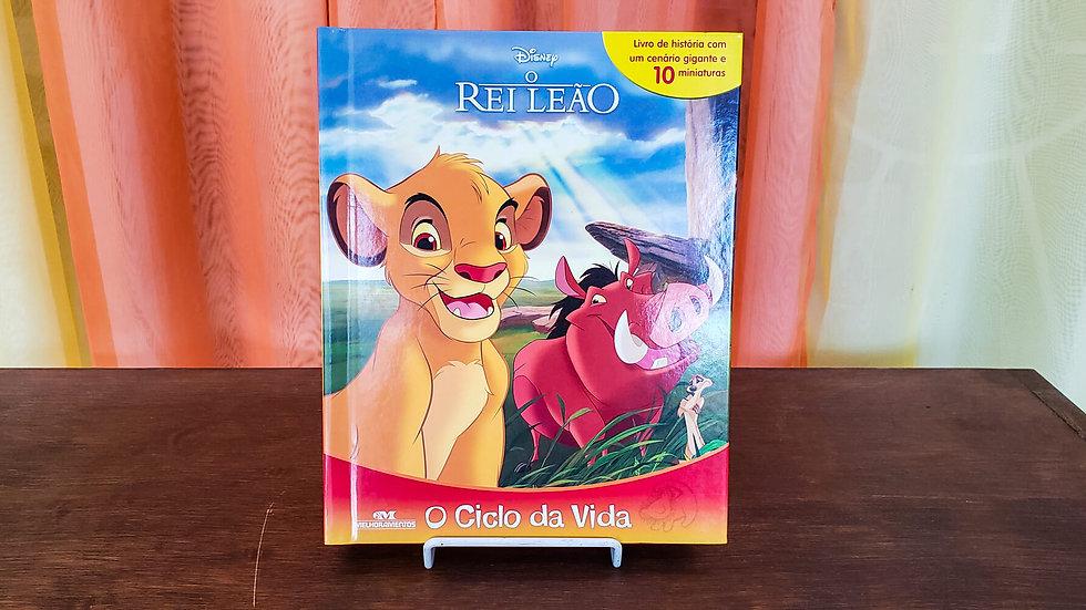 """Livro com Miniaturas """"Rei Leão - O Ciclo da Vida"""""""