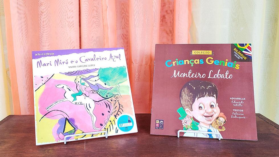 Kit Artes - Mari Miró e o Cavaleiro Azul e Monteiro Lobato