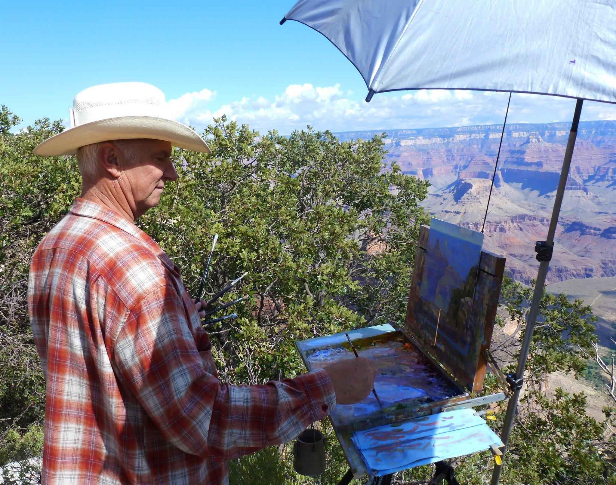 GH painting at Grand Canyon
