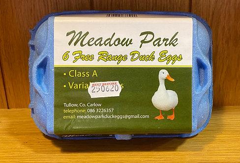 Free Range Duck Eggs 1/2 Dozen