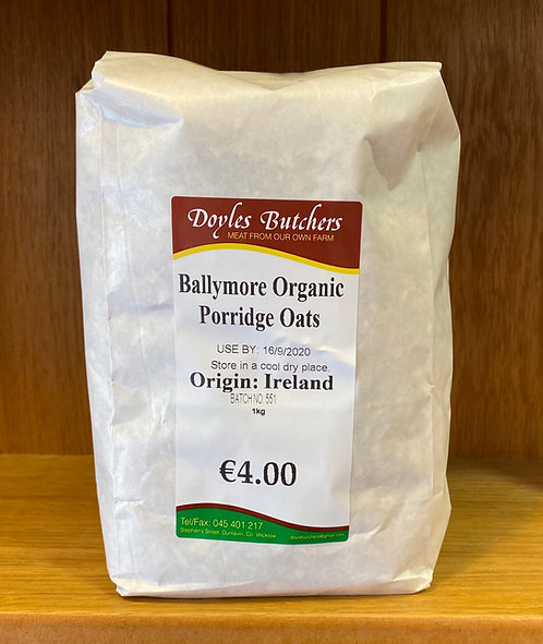 Ballymore Organic Porridge Oats 1kg