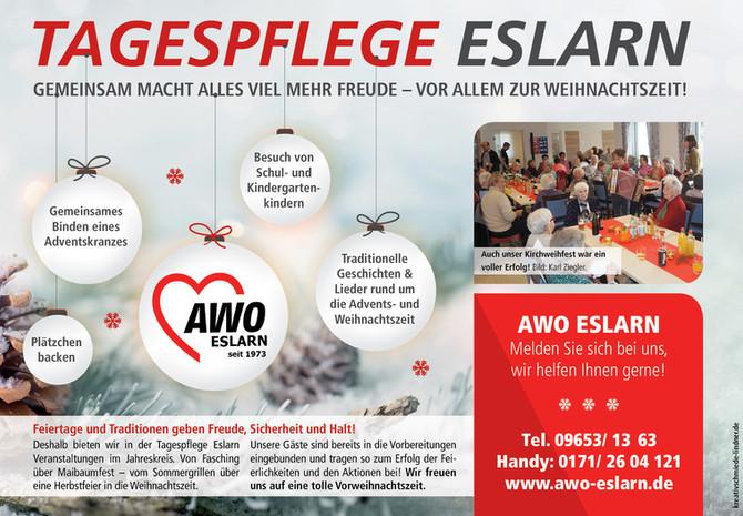 Neue Anzeigen für die AWO Eslarn (klicken für mehr)
