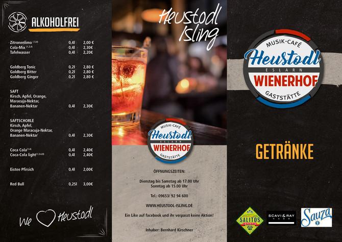 Logo und Getränkepromotion für den Heustodl Eslarn