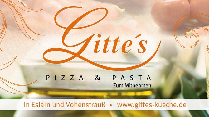 Bierzeltbanner für Gitte´s Pizza & Pasta im Format 300x150cm