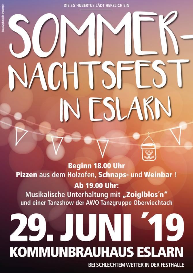 Sommernachtsfest der SG Hubertus Eslarn