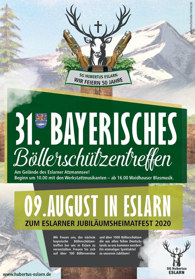Flyer für das Böllerhighlight in Bayern 2020