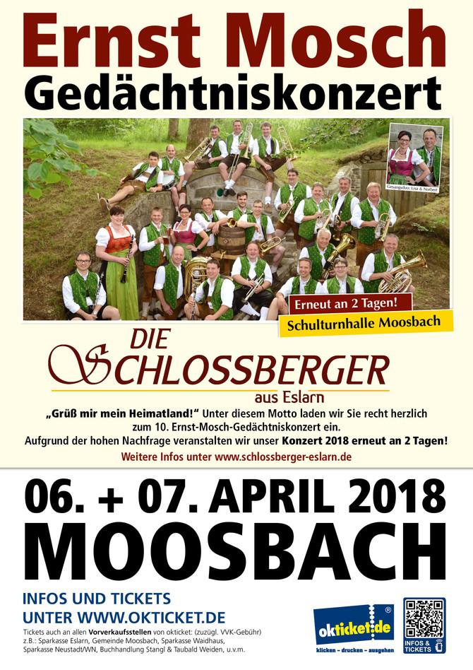 Werbemittel für das Konzert der Eslarner Schlossberger
