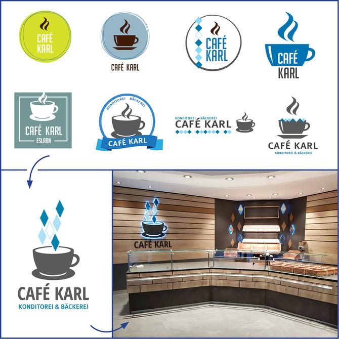 Logo und Geschäftsausstattung für das Café Karl in Eslarn