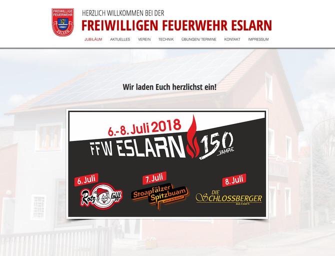 Neue Homepage für die Eslarner Feuerwehr