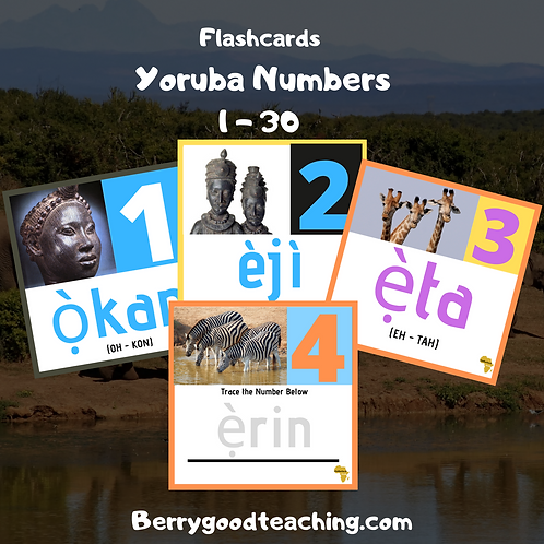 Yoruba Flash Cards