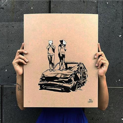 """Peugeot 504"" Serigrafía"