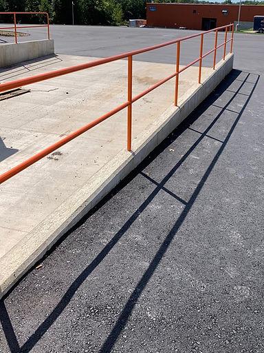 9-15-19 MFP loading dock handrail instal